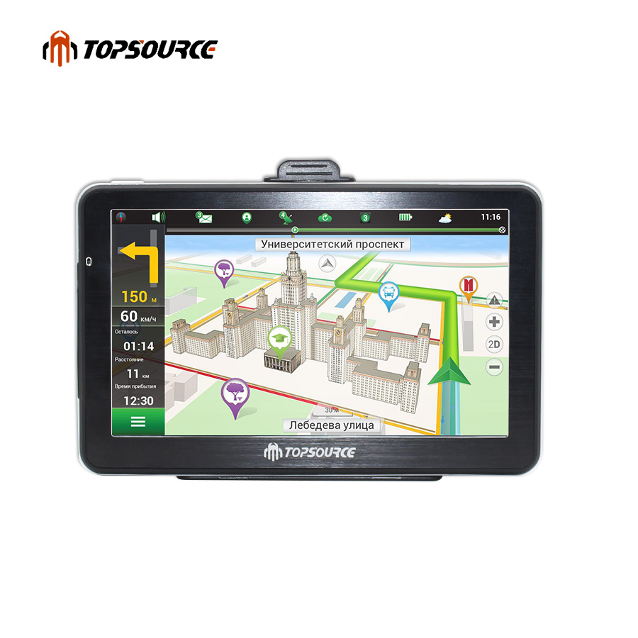 TOPSOURCE 4.3 5 7 hd car gps navigation truck gps navigation preload gps map windows ce6.0 800mhz 8gb MSB 2531 ARM Cortex A7