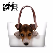 Animal handbags for woman casual mulit-function shopping travel Summer large tote bags cute pug dog women Clear messenger bags