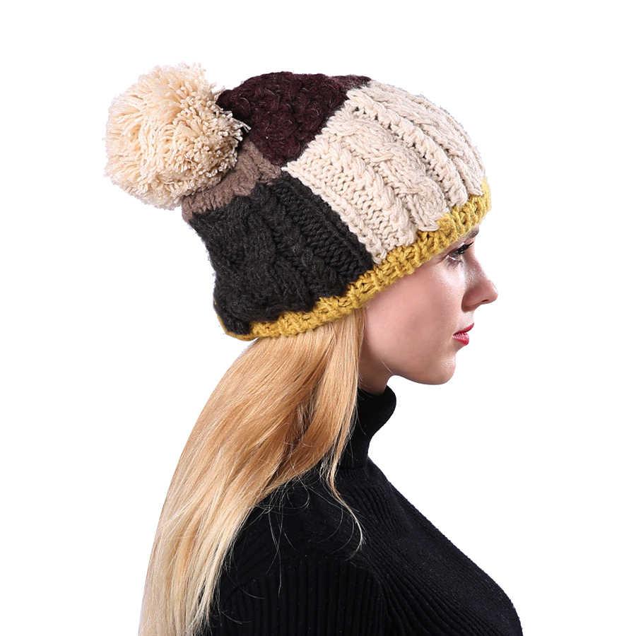 bfa111cf3f408e Detail Feedback Questions about Winter Beanies Knit Autumn Winter ...