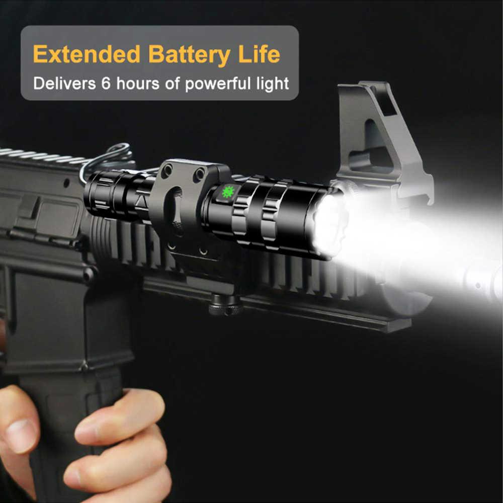 50000LM UltraBright LED טקטי פנס USB נטענת עמיד למים סקאוט אור לפיד ציד אור 5 מצבים על ידי 18650 סוללה