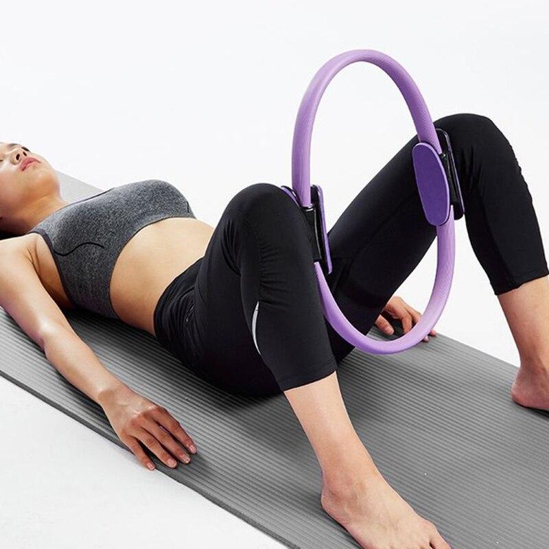 ①  38см йога круг йога колесо пилатес кольцо crossfit кольца дхарма колесо черный ролик фитнес бодибилд ①