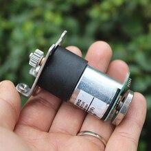 DC Шестерни двигатель с датчиком все металлические Шестерни DC 12V Шестерни ed мотор кодового диска Скорость Тесты автомобиля/робот 70 об./мин. Передаточное отношение: 1: 90
