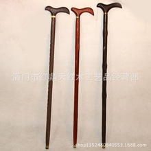Mahogany walking stick crutch wholesale wenge wood canes crutches elderly wings wood crutches fine grinding