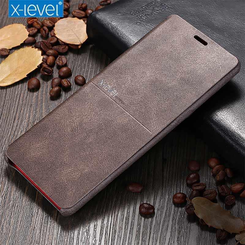 X Cấp Flip Case Dành Cho Samsung Galaxy Samsung Galaxy Note 10 + 5G S10 S10e Da Vintage Lai Chống Sốc Ví bao da Dành Cho Galaxy S9 Coque