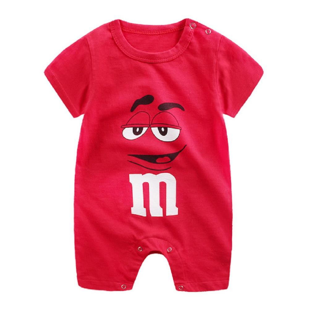 Baby Clothes For Girl Boy Newborn Infant   Romper   Cotton Cartoon Printing Short Sleeve Newborn Baby Jumpsuit Summer