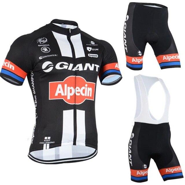 100 Polyester 2015 Giant Team font b Cycling b font Jerseys Breathable Bike font b Cycling