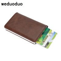 Stainless Steel Mens Credit Card Holder Fashion Brand Card Holder Metal Card Case High Quality Card