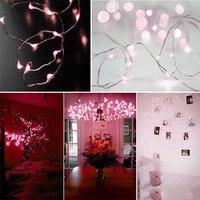 10 шт. розовый блеск светодиодный света высокоэффективных 10 м 100 светодиодный 3AA Батарея серебряной проволоки декоративный свет String
