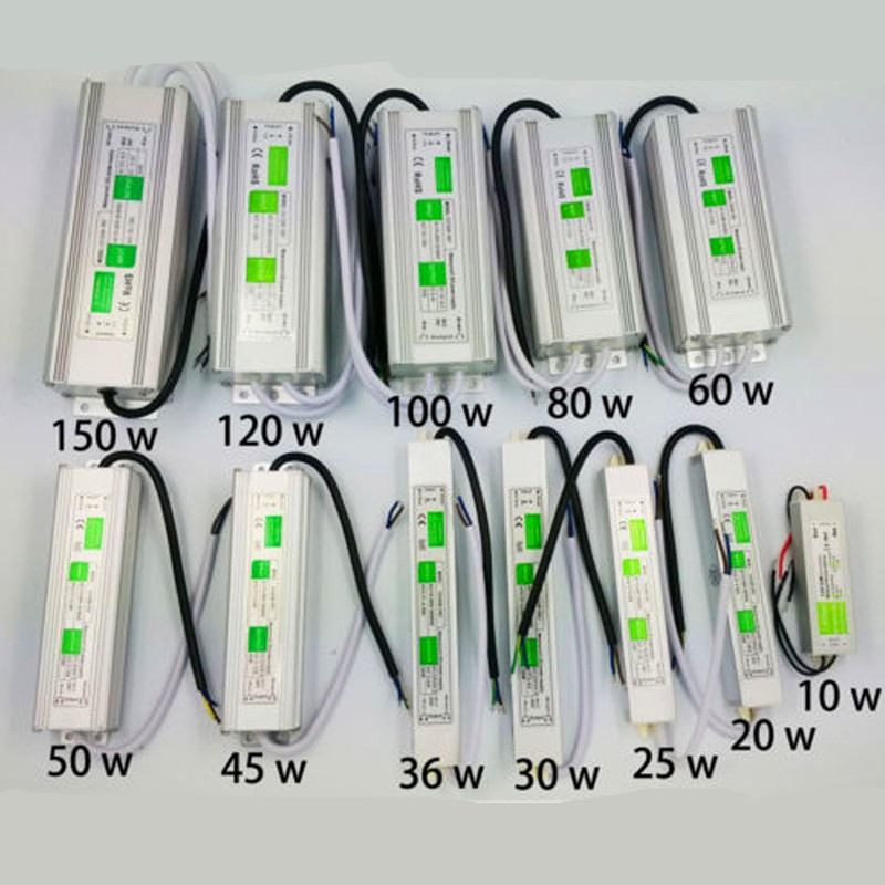 10W- 100W Led Driver Transformer Power Supply Adapter AC110-260V to DC12V/24V Waterproof Electronic outdoor IP67 led strip lam led transformer 24v 60w ac dc power supply 110v 220v to 24v charger adapter for led strip led module light 3 year warranty