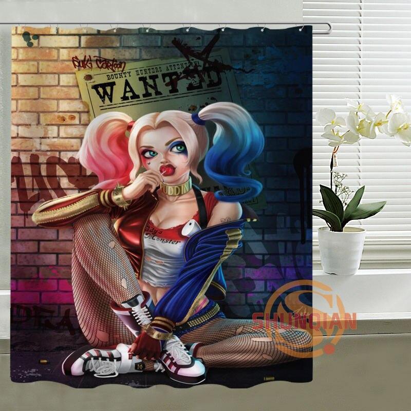 Joker y Harley Quinn Danza Diseño Personalizado Productos de Baño Impermeable Ba