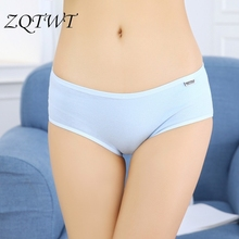 ZQTWT Hot Sale Calcinha Sexy Underwear Women Panties 2018 Candy Color Tanga Cotton Seamless Briefs High