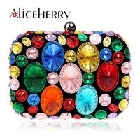 High Quality Diamonds Beaded Fashion Women Chain Shoulder Handbags Crossbody Bags Wedding Party Evening Bags Box Day Clutch