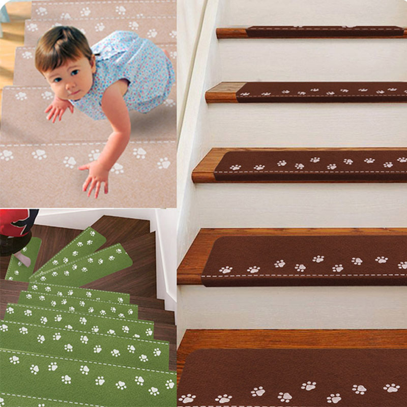 Three Colors Cute Cat Claw Luminous Stair Mat Anti-Slip Noise Reduction Self-adhesive Floor Carpets Stair Treads Protector Mats