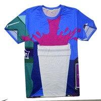 Harajuku Couples T Shirt 3D Print Personality Cola Short Sleeved T Shirt Summer Style Casual Design