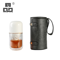 TANGPIN glass teapot and ceramic cup with infuser double wall glass tea cup portable travel tea sets drinkware