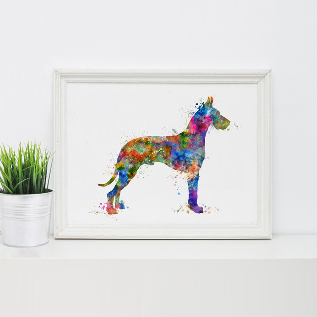 Great Dane Dog Art Print Poster Greatdane All Wall Hanging Decor