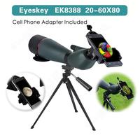 Eyeskey 20 60x80mm Zoom Spotting Scope Hunting w/Phone Adaptor Soft Case Outdoor Free shipping