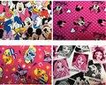 100*145 см Микки Минни Маус принцесса Эластичность трикотажные хлопок ткань Для Швейных Жир Лоскутное Лоскутная девушка Ткани Малыша текстиль