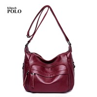 Best Special Offer New Bucket Quality Genuine Leather Women Handbags Brand Tote Bag Plaid Top Handle