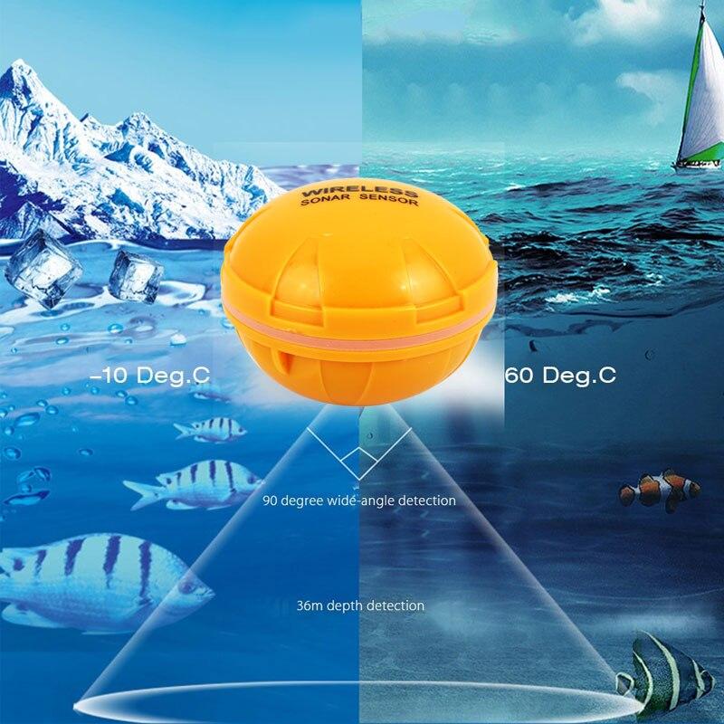 WiFi Wirele Bluetooth Smart рыбопоисковый сонар IOS Android смартфон рыболокатор Shore планшет лодка 125 кГц озеро 36 м приложение море