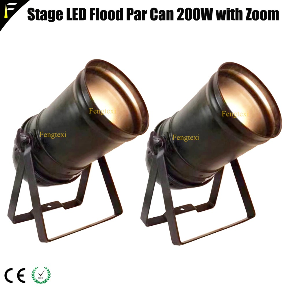 2pcs Down Light COB LED 200w Zoom Spotlight 5 50 Degree Studio LED Par with Par56