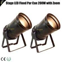 2 шт. вниз свет COB светодиодный 200 w Zoom прожектор 5 ~ 50 градусов Studio светодиодный наравне с Par56 черный Корпус традиционных прожектор