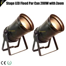 2pcs ไฟ LED 200 W ZOOM Spotlight 15 ~ 50 องศาสตูดิโอ LED PAR Par56 สีดำที่อยู่อาศัยแบบดั้งเดิม Floodlight