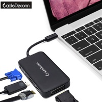 usb 3 1 Type c hub to hdmi vga dvi displayport Converter 4in1 Multi function Multiport