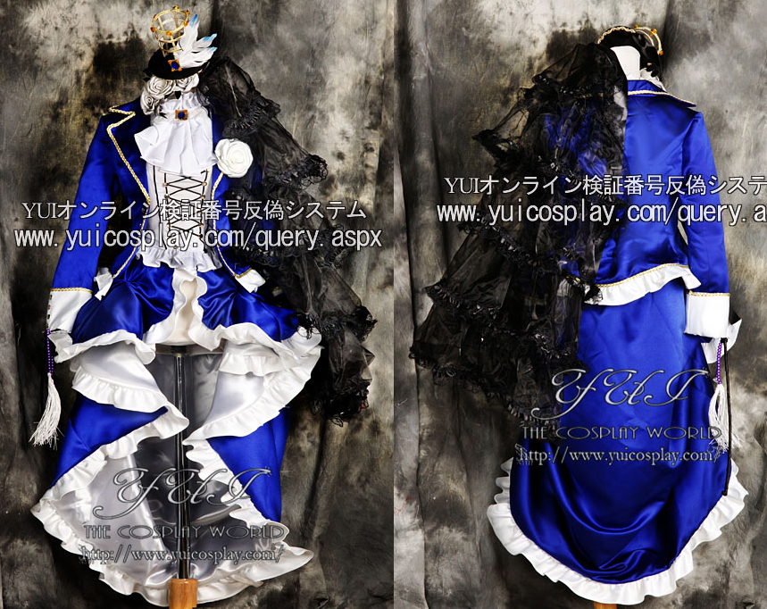 Custom made in Any size Black Butler Cosplay Ciel Phantomhive Dark Blue Costume