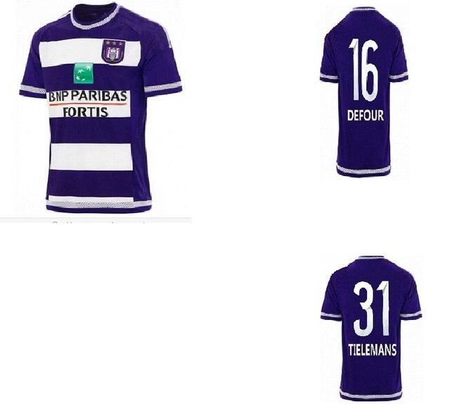 0cb3f0efbfd Anderlecht Jersey rsc anderlecht home 15/16 Belgium Pro League Soccer  Jersey best quality 2015/2016 football shirt 15 16