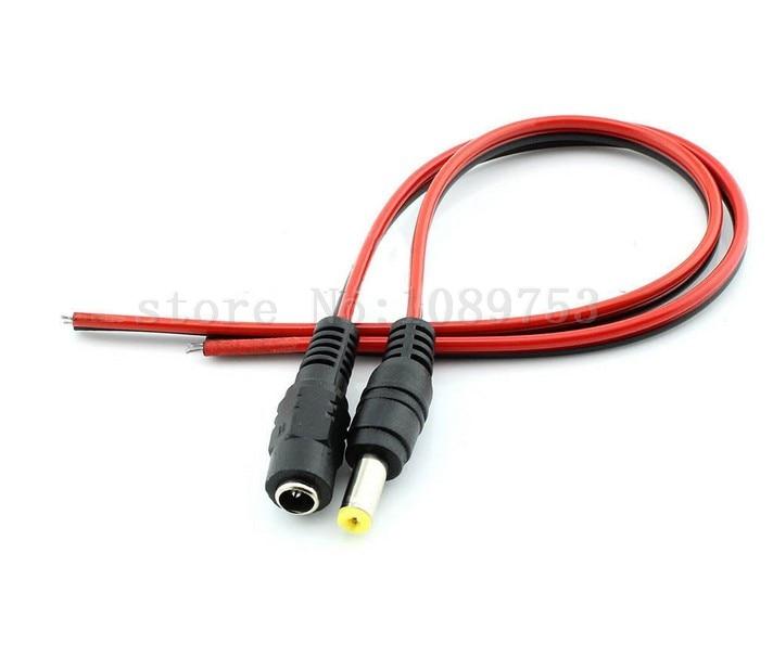 20 pair 12V 5.5x2.1mm Male + Female DC Power Jack Connector Cable Plug Wire CCTV zinuo dc12v 5pcs male 5pcs female 2 1x5 5mm dc power plug jack adapter connector plug for cctv single color led strip light