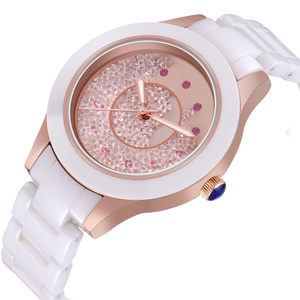 Image 4 - 2019 אופנה חדשה פשוט קריסטל גבירותיי שעון קרמיקה רצועה עמיד למים רב פונקציה קוורץ גבירותיי שעון גבירותיי מתנות Reloj Mujer