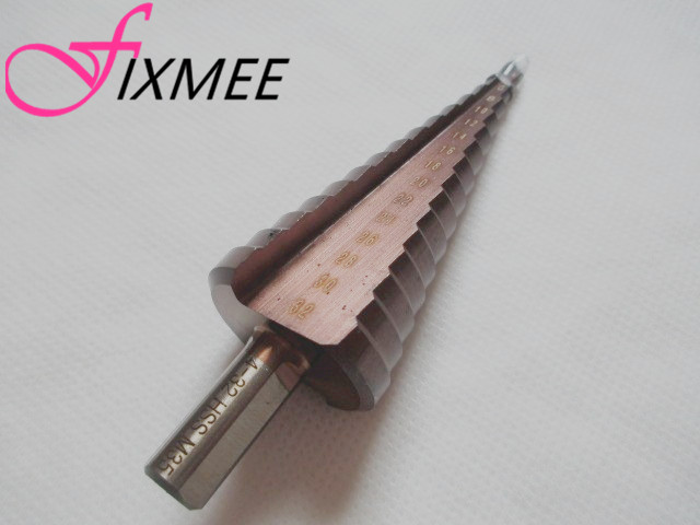 HSS-CO/M35 Triangle Shank 4-32mm Cobalt Straight Step Drill Bit Metal Cone Step Drill Bit Stainless Steel Hole Saw Hole Cutter free shipping of 1pc hss 6542 made cnc full grinded hss taper shank twist drill bit 11 175mm for steel
