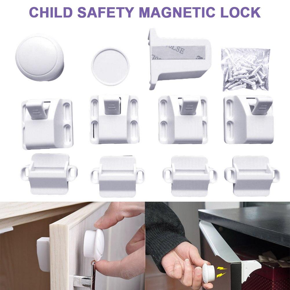 Nieuwste Magnetische Lock Set Kind Baby Veiligheid Bescherming Beveiliging Onzichtbare Voor Kastdeur Lade Nieuwste Technologie