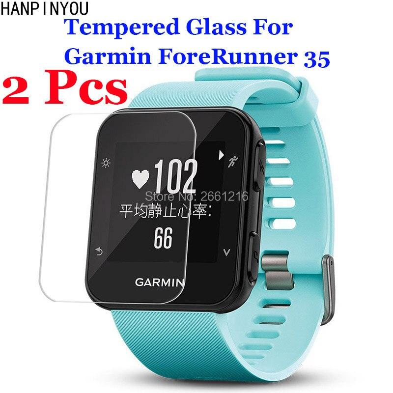2 Pcs/Lot For Garmin ForeRunner 35 FR35 Tempered Glass 9H 2.5D Premium Screen Protector Film Outdoor Sport Running SmartWatch