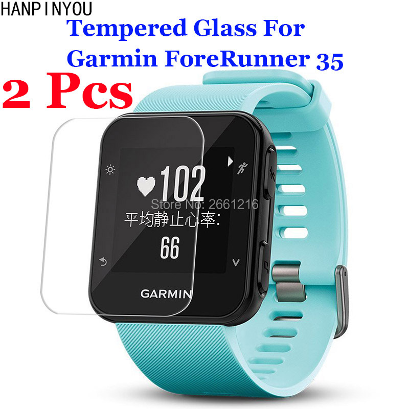 2 Pcs/Lot For Garmin ForeRunner 35 FR35 Tempered Glass 9H 2.5D Premium Screen Protector Film Outdoor Sport Running SmartWatch