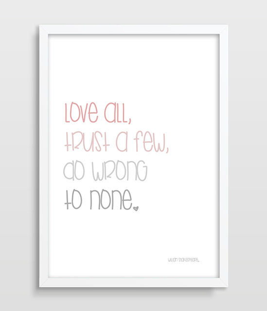 liefde print william shakespeare quote liefde poster cadeau voor geliefde leven citaat de. Black Bedroom Furniture Sets. Home Design Ideas