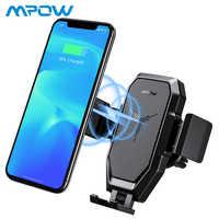Mpow prise d'air sans fil Charge rapide voiture support pour téléphone Qi sans fil Charge rapide voiture support de montage pour Iphone X/8/7/6 Samsung Xiaomi