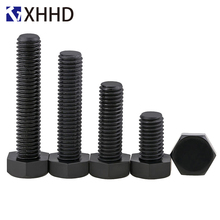 M6 M8 Black Nylon External Hex Screw Metric Full Thread Outside Plastic Insulation Hexagonal Machine Bolts PA66