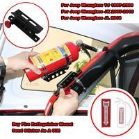 For Jeep Wrangler JK TJ CJ Rubicon Adjustable Roll Bar Fire Extinguisher Mount Holder w/ Clamps Aluminum For Polaris RZR Ranger