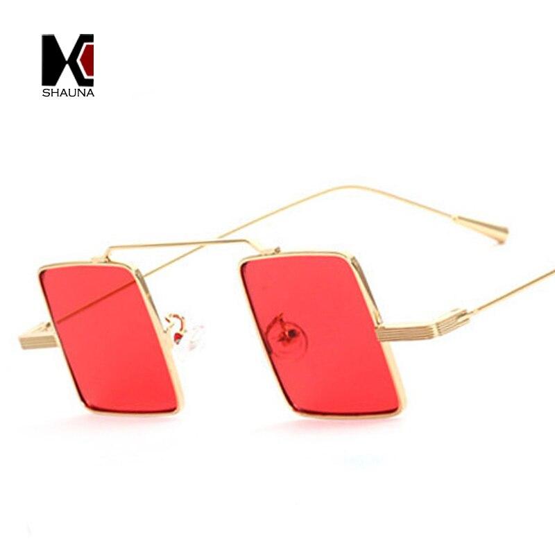 Shauna Ретро Хиппи квадратный Солнцезащитные очки для женщин Для мужчин панк очки Для женщин широкий мост зеркальное покрытие оттенков
