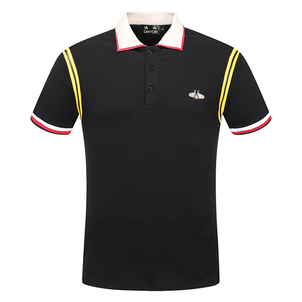 DUYOU New Luxury Designer Men   Polo   shirts men brand clothing casual simple short sleeve   Polo   male top quality 100% cotton DY7021