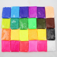 24pcs Set 20g Pack Super Light Snow Mud Toy Colorful Plasticine Soft Educational Clay Gift Toy