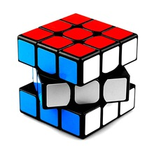 Klassisk Farverig 3x3x3 Tre lag Magic Cube Profissionskonkurrence Speed ​​Cubo Non Stickers Puslespil Magic Cube Cool Toy Boy