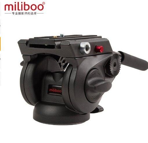 Miliboo MYT801 75mm bol taille Base plate fluide rotule pour appareil photo trépied et monopode support charge 8 kg