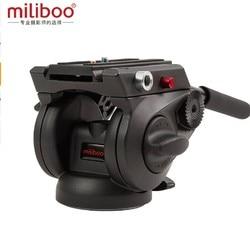 Miliboo MYT801 75mm bowl size Base flat fluid ball head for camera tripod and Monopod Stand load 8kg