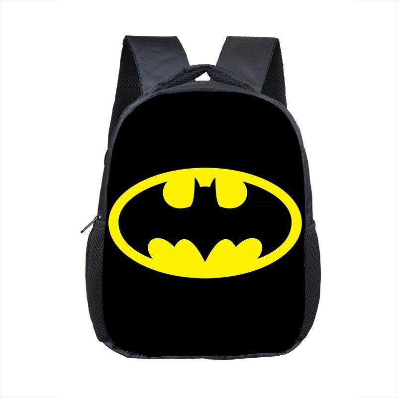 12 Inch Super Hero Batman Iron Man School Backpacks Kindergarten Book Bag Casual Children School Bags Mochila Infantil