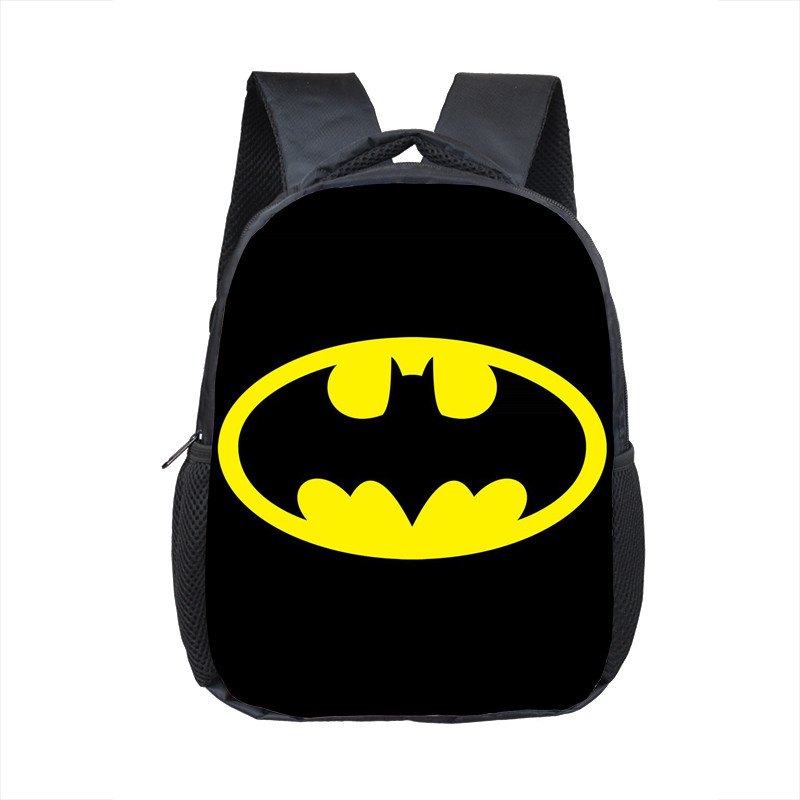 12 Inch Superhero Batman Iron Man School Backpacks Kindergarten Book Bag Casual Children School Bags Mochila Infantil