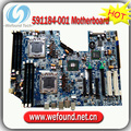 Caliente! placa madre del servidor de 591184-001 460840-003 para HP Z600