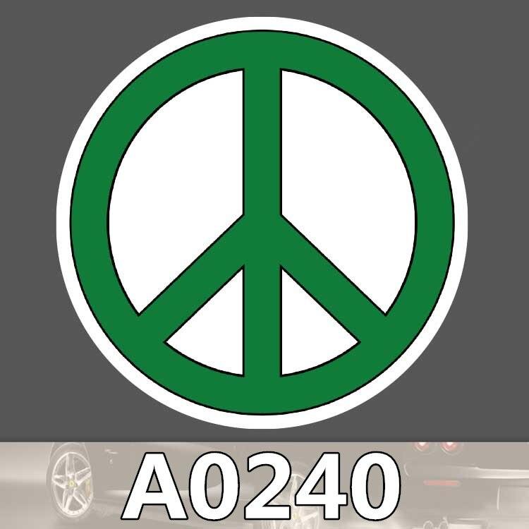 Símbolos de Paz A0240 adesivo logotipo do sinal contra a guerra mala laptop guitarra skate bagagem bicicleta brinquedo Crianças adesivos à prova d' água